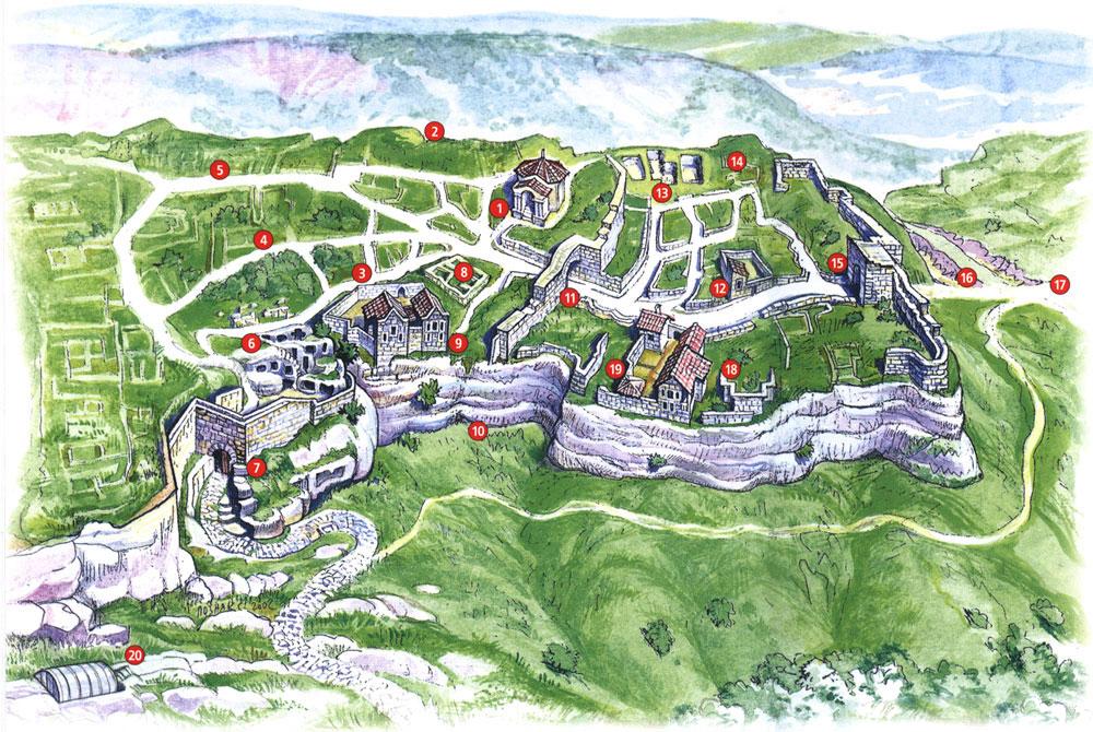 Карта Чуфут - Кале